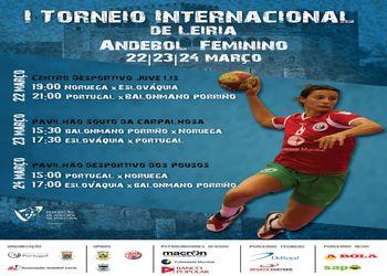 Cartaz Torneio Internacional de Leiria - 22 a 24 Março 2013
