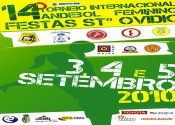 Cartaz XIV Torneio Internacional Andebol Feminino Festas de Santo Ovídio