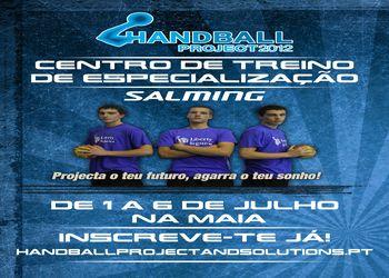 Cartaz Centro de Treino de Especialização 2012 da Handball Project