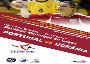 Cartaz Portugal : Ucrânia - qualificação Euro 2010 seniores femininos