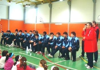 Selecção de Juniores A visita Escola em Ponte do Sor
