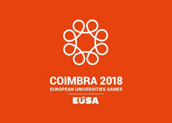 Logótipo European Universities Games Coimbra 2018