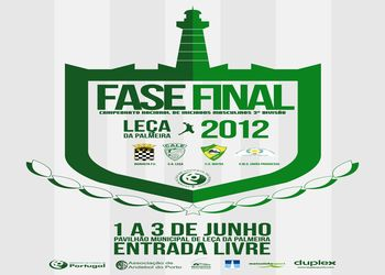 Cartaz fase final Campeonato Nacional de Iniciados Masculinos 2ª Divisão