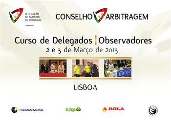Cartaz Curso para Delegado / Observador - Lisboa