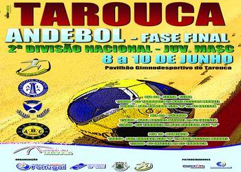 Cartaz FF Juvenis Masculinos da 2ª Divisão - Tarouca, 8 a 10 Junho 2012