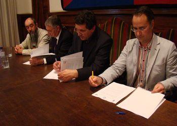Assinatura protocolo cooperação e a assinatura do contrato para a fase final PO14
