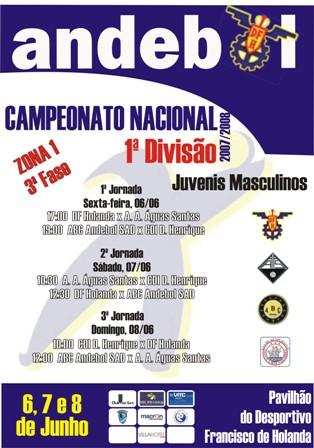 3ª Fase do Campeonato Nacional 1ª Divisão Juvenis Masculinos - Zona 1