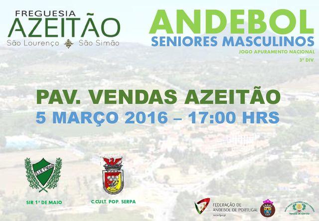 Cartaz Jogo Apuramento 2ª Fase - Campeonato Nacional Seniores Masculinos 3ª Divisão
