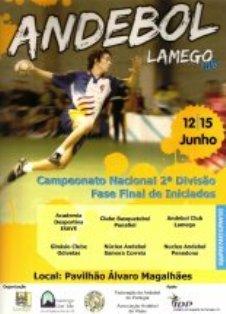 Cartaz Fase Final Campeonato Nacional 2ª Divisão Iniciados Masculinos