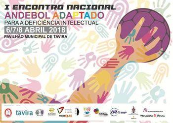 Cartaz I Encontro Nacional de Andebol Adaptado em Tavira