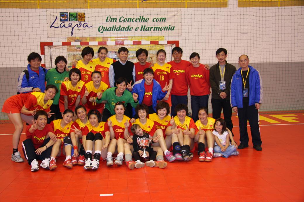 China - Vencedora do Torneio Internacional de Lagoa