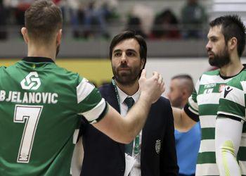 Hugo Canela, Bosko Bjelanovic e Tiago Rocha - Sporting CP - Campeonato Andebol 1