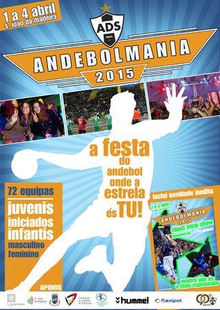 Cartaz Torneio Andebolmania 2015