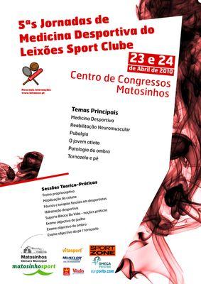Cartaz 5ªs Jornadas de Medicina Desportiva do Leixões Sport Clube