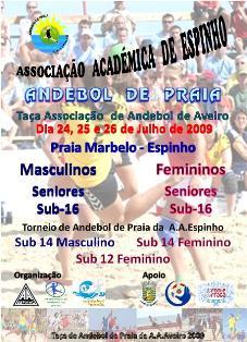 Cartaz Taça de Andebol de Praia da A.A.Aveiro
