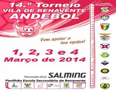 Cartaz 14º Torneio de Andebol Vila de Benavente