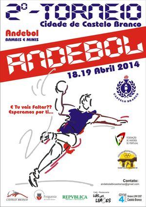 Cartaz II Torneio Cidade de Castelo Branco - 18 e 19 de Abril 2014