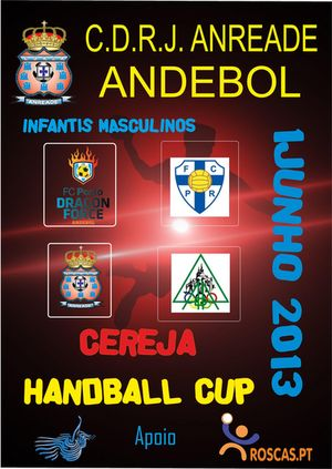 Cartaz Torneio CEREJA HANDBALL CUP