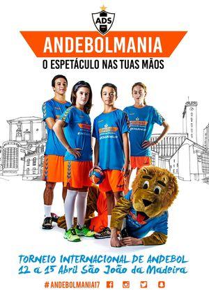 Cartaz Andebolmania 2017 - XVI Torneio Internacional Andebol