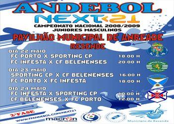 2ª Fase - Zona 1 - Next<21 Campeonato Nacional 1ª Divisão Juniores Masculinos - 22 a 24.05.09, Resende