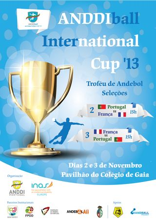 Cartaz ANDDIball International Cup 2013