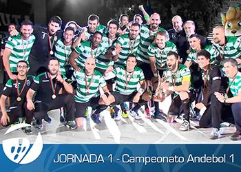 Banner Reportagem - 1ª Jornada - Campeonato Andebol 1