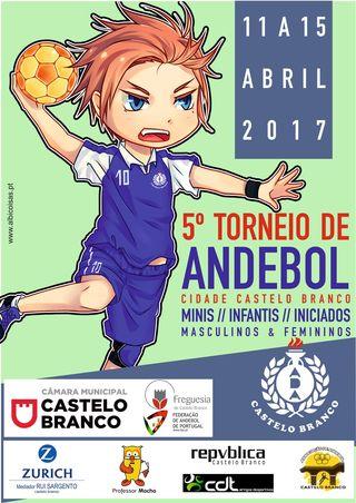 Cartaz do V Torneio de Andebol Cidade de Castelo Branco 2017