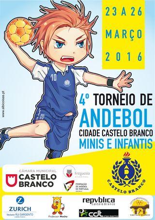 Cartaz 4º Torneio de Andebol de Castelo Branco