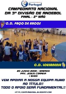 Cartaz 2ª Mão Final Campeonato Nacional 3ª Divisão Seniores Masculinos