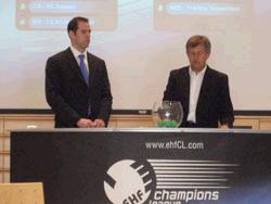 Manuel Arezes no sorteio da EHF CL 2009-10