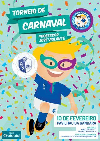 Cartaz 2º Torneio de Carnaval - Professor José Violante
