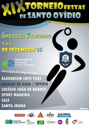 Cartaz XIX Torneio Internacional Santo Ovídio 2015