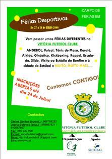 Cartaz Férias Desportivas VFC - última semana