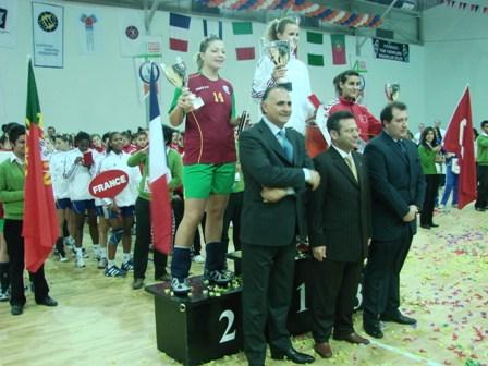 Podium - Portugal 2º classificado no 4º Campeonato do Mediterrâneo