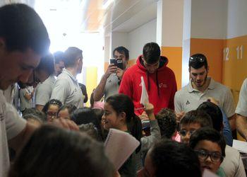 Seleção Nacional em visita a escola de Moimenta da Beira