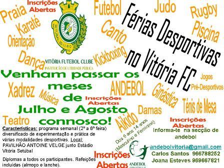 Cartaz Campos de Férias Andebol VFC