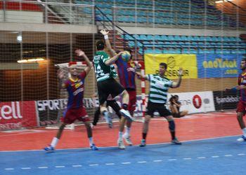 Sporting CP : FC Barcelona - Torneio de Andebol Ibérico (foto de Luis Xavier)