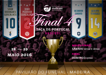 Cartaz Taça de Portugal Multicare Seniores Femininos - Funchal, 28 e 29 de Maio 2016