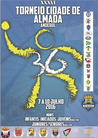 Cartaz Torneio Cidade de Almada 2016