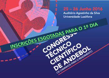 Inscrições esgotadas para o primeiro dia do 13º Congresso Técnico Científico