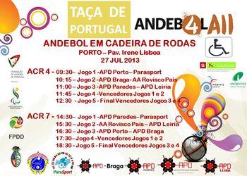 Cartaz Taça de Portugal de ACR4 e ACR7