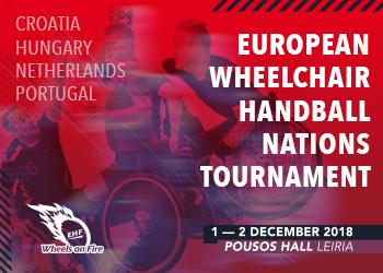 Cartaz 3º Torneio Europeu de Andebol em Cadeira de Rodas
