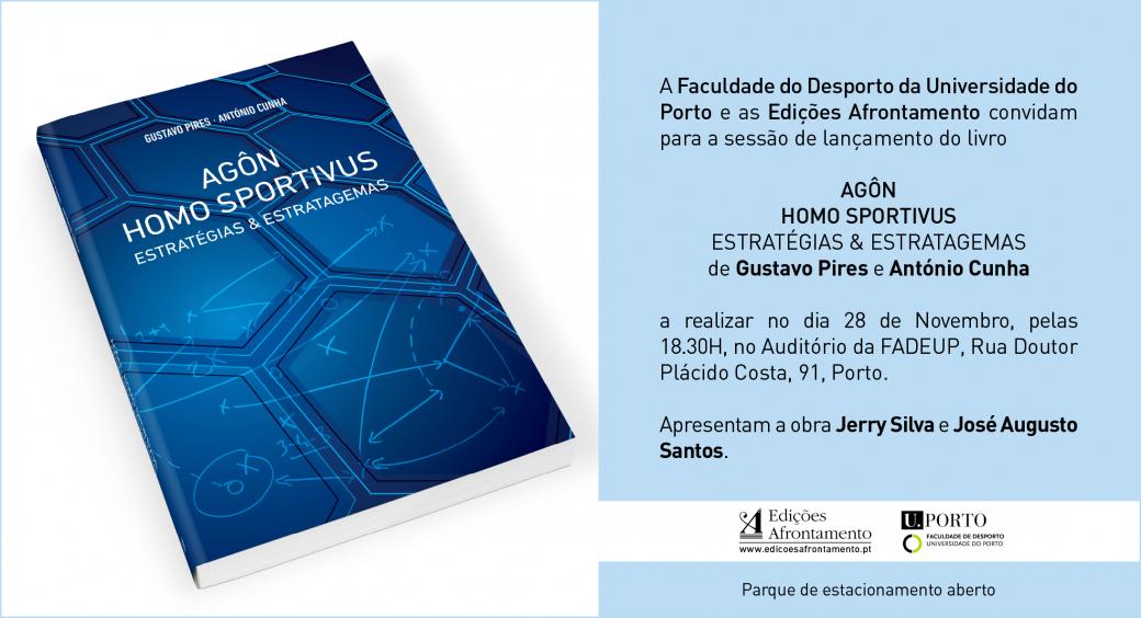 Convite - Apresentação do Livro Agôn - Homo Sportivus - Estratégias e Estratagemas - 28.11.17