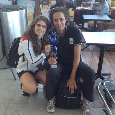 Sandra Santiago, Melhor Lateral Esquerda do Europeu de Sub17 e Sandra Fernandes, seleccionadora nacional