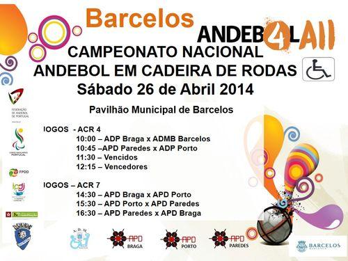 Cartaz 4ª concentração do Grupo Norte do Campeonato Nacional de ACR