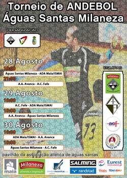 Cartaz Torneio de Andebol AA Águas Santas - 2015