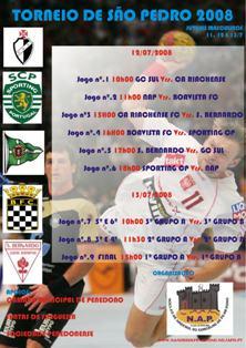 Cartaz Torneio de S.Pedro 2008