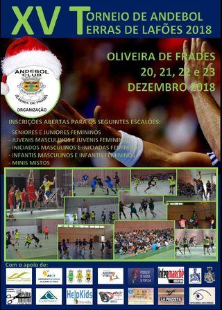 Cartaz XV Torneio de Andebol - Terras de Lafões 2018