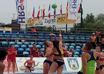 Portugal - Suíça - Sub17 Femininos no Europeu Andebol Praia