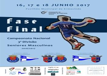 Cartaz Fase Final do Campeonato Nacional de Seniores Masculinos 3ª Divisão